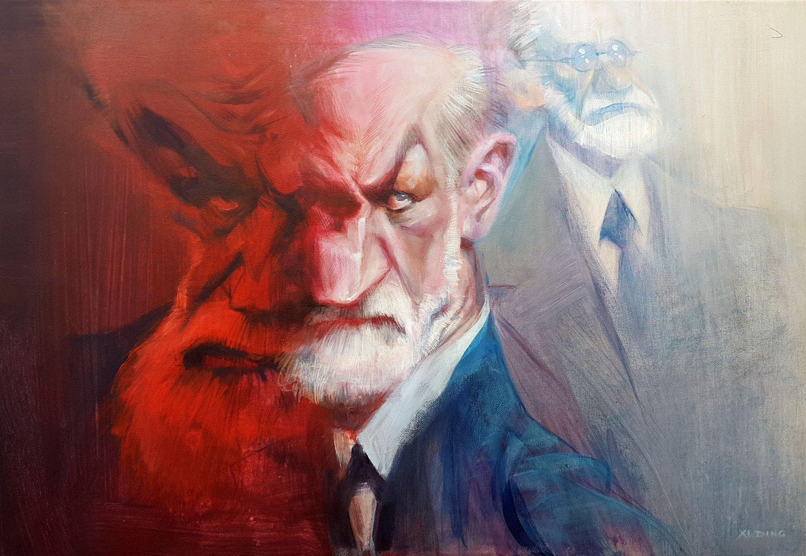 Sigmund Freud por Xi Ding