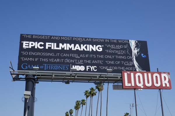 Game of Thrones 7 Emmy FYC billboard
