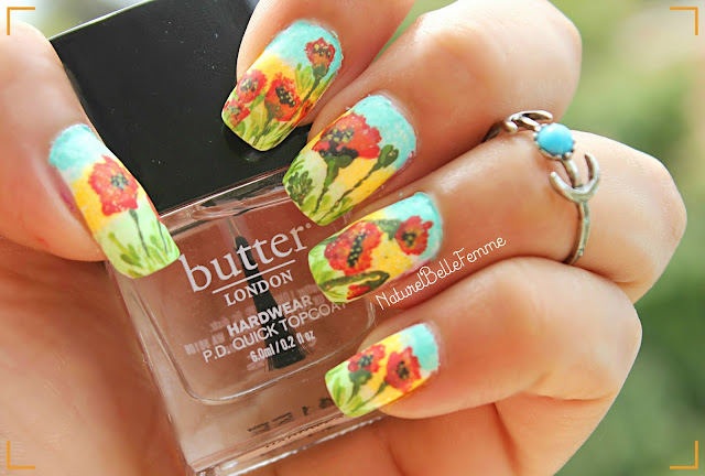 Poppies manicure