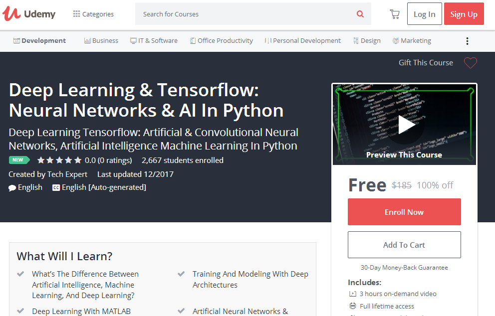 Deep learning tensorflow neural networks ai in python udemy deep learning tensorflow neural networks ai in python udemy free 100 fandeluxe Gallery