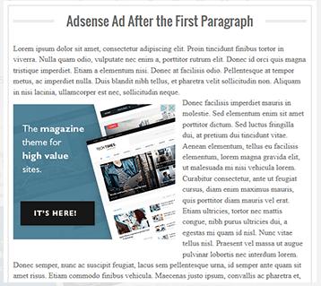 Tips Meletakkan Iklan Adsense Setelah Paragraf Pertama
