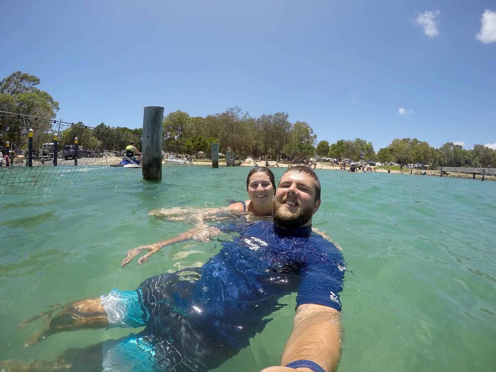 Swimming at Amity Point Stradbroke Island