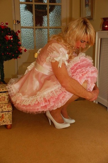 Man with sissy dress