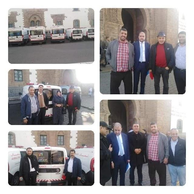 جهة الدار البيضاء سطات تسلم سيارات إسعاف لمجموعة من الجماعات بإقليم برشيد