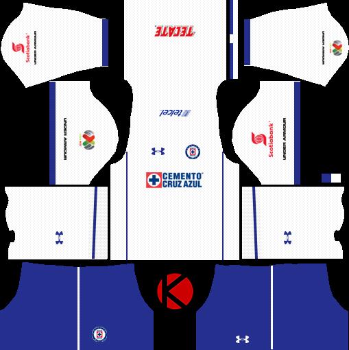 cf7fe71f1 Cruz Azul Kits 2017 2018 - Dream League Soccer - Kuchalana