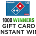 $15 Domino's Gift Card Instant Win Giveaway - 1,000 Winners. Daily Entry, Ends 6/28/19