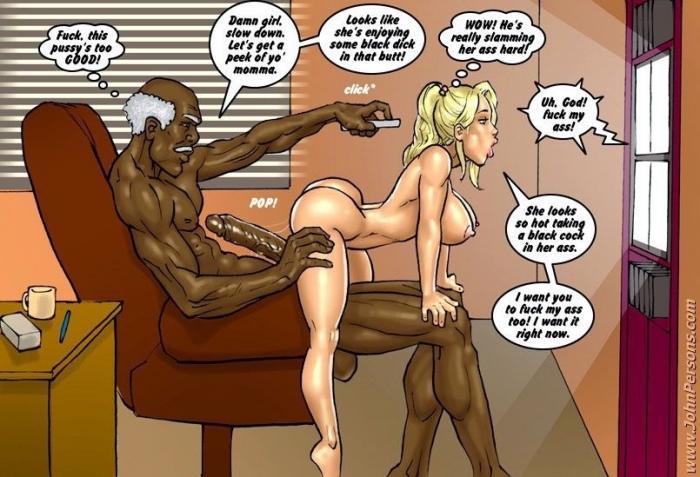 порно комикс блондинки