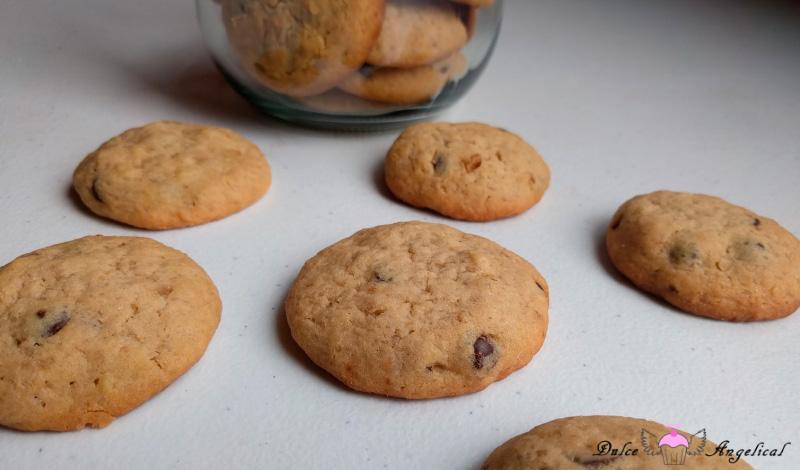 Deliciosas galletas caseras con chispas de chocolate