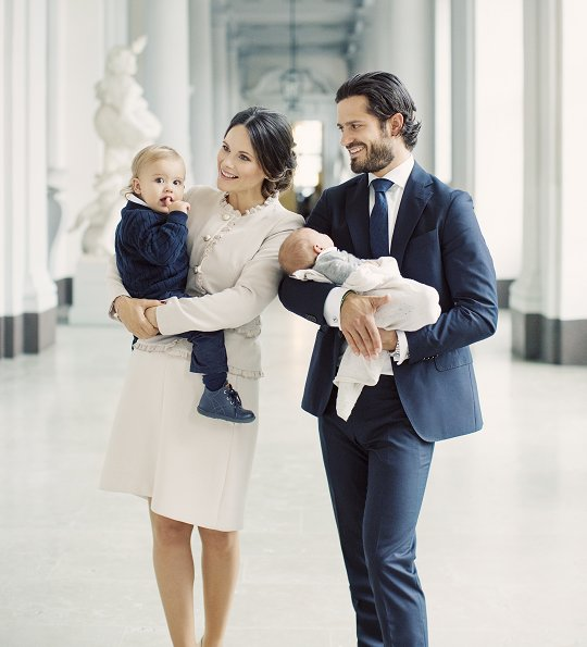 Prince Carl Philip, Princess Sofia and their children Prince Alexander and Prince Gabriel