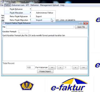 Cara Import Data eFaktur Pajak Dari Exel Ke Aplikasi eFaktur Pajak Online