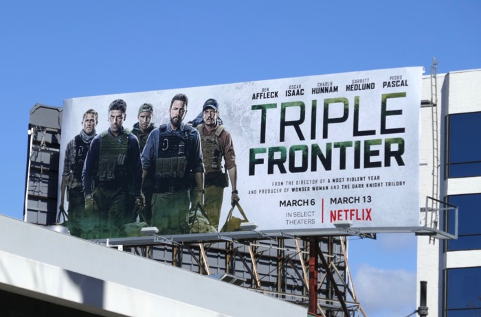 Triple Frontier film billboard