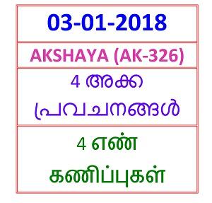 03-01-2018 4 NOS Predictions AKSHAYA (AK-326)