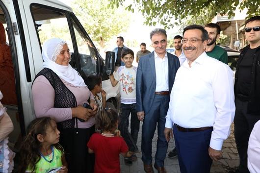 Diyarbakır Büyükşehir Belediye Başkanı Cumali Atilla'dan Çınar'a ziyaret