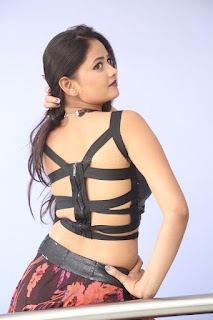 Shriya Vyas in a Tight Backless Sleeveless Crop top and Skirt 98.JPG