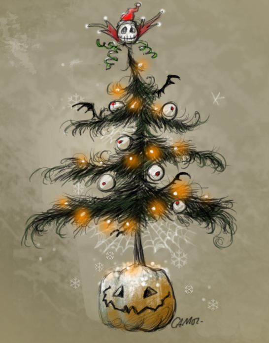 Halloween Christmas Tree by sketchpad232