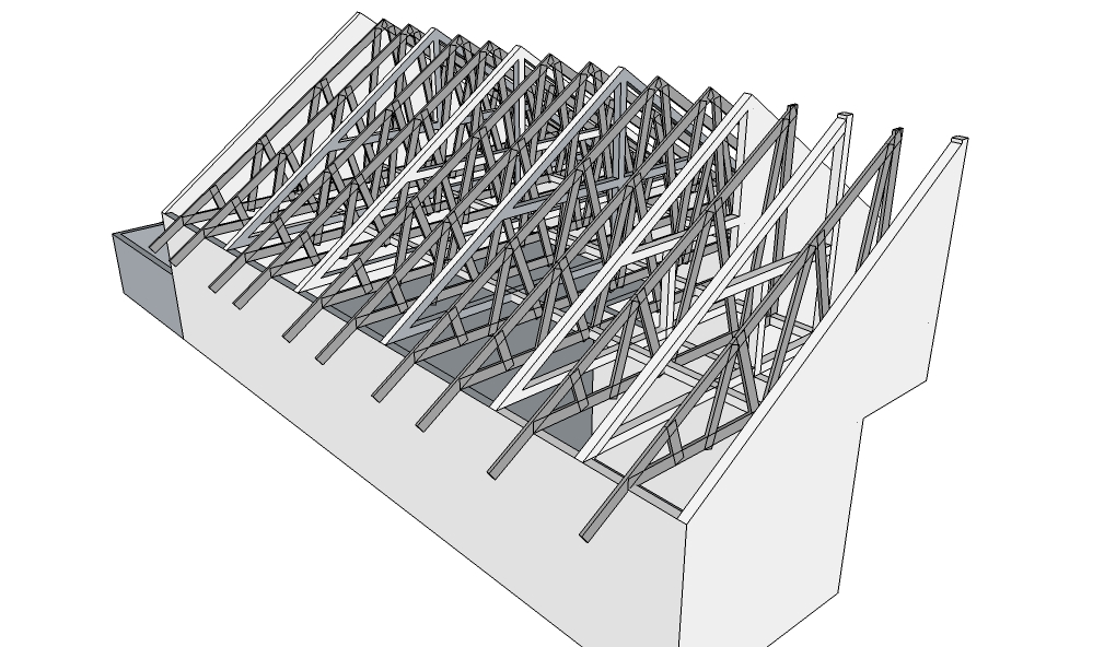 rangka baja ringan atap miring kitchen ideas