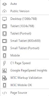 Режимы просмотра и анализа страниц внутреннего браузера в админке Composite C1 CMS 5.0