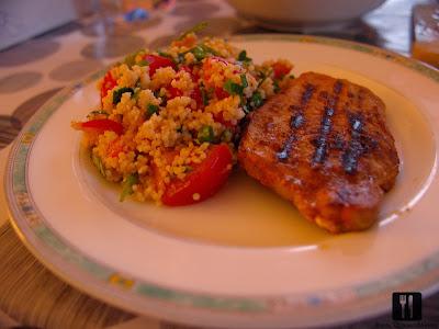 Cotlet de porc la grătar cu Tabouleh