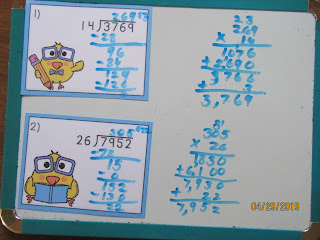 Chicks 2 Digit Long Division Task Cards