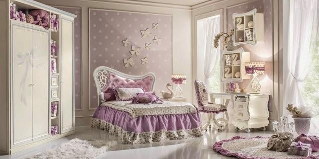 Dormitorio estilo cl sico para ni as dormitorios colores - Dormitorios para nina ...