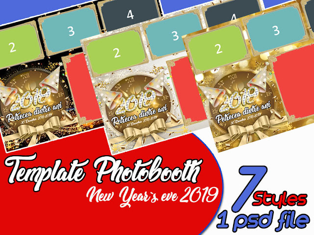 Template photobooth pentru revelion