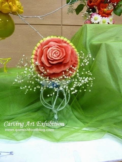 watermelon carving bouquet