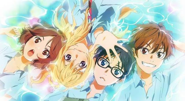 Shigatsu wa Kimi no Uso - Daftar Anime Romance School Terbaik Sepanjang Masa