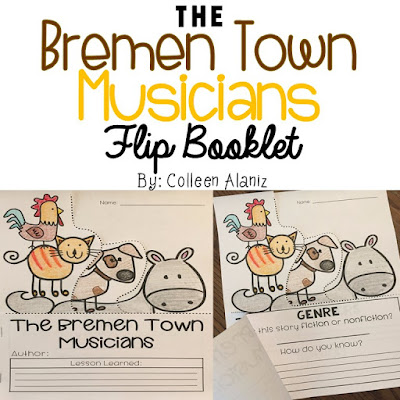 https://www.teacherspayteachers.com/Product/The-Bremen-Town-Musicians-Flip-Booklet-2862929