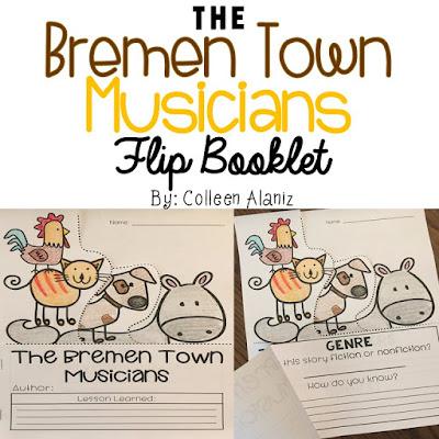 https://www.teacherspayteachers.com/Product/The-Bremen-Town-Musicians-Flip-Booklet-2862929