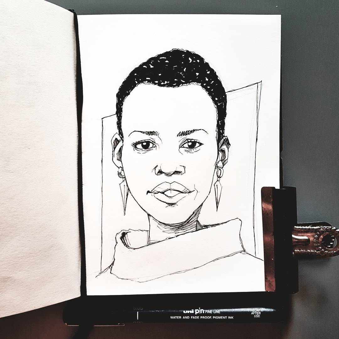 Lupita Nyong'o illustration