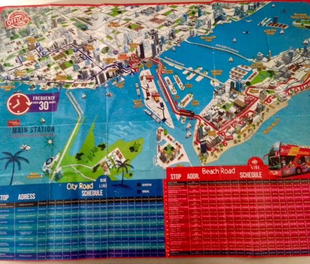 Mapa City Tour em Miami