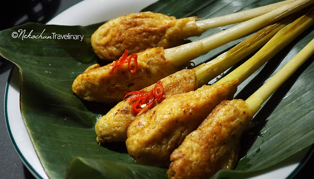 balinese sate lilit made from dory fish