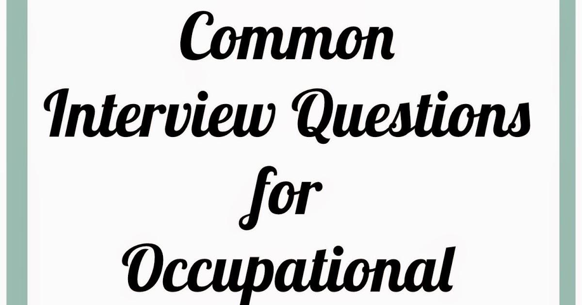OT Cafe OT Student Corner Common Interview Questions