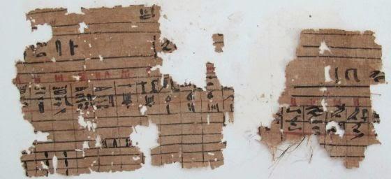 Papiros antiguos de la época del faraón Keops