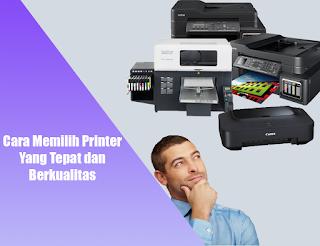 memilih printer yang murah dan berkualitas