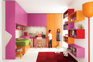 desain kamar tidur anak perempuan dan laki
