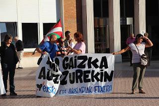 Recibimiento a Gaizka Sopelana en el hospital de Cruces
