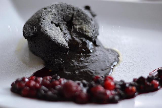 Zdravé soufflé / zdravý čokoládový fondant