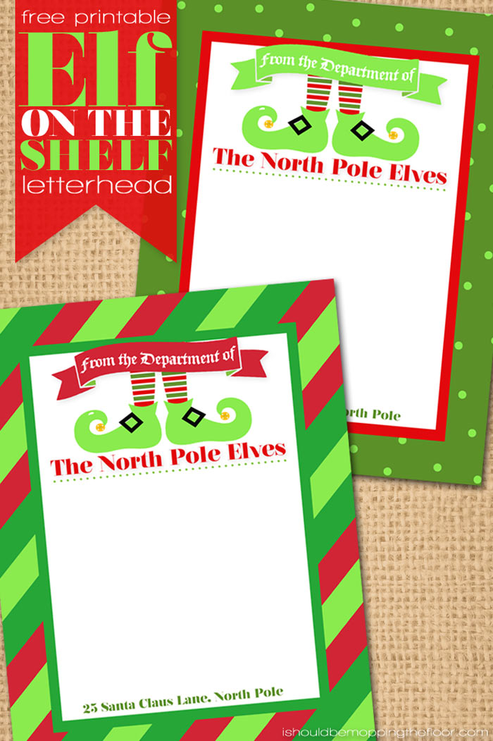 Playful image inside elf on the shelf printable letter