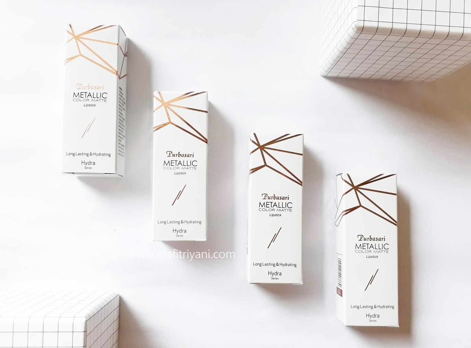 Review Purbasari Metallic Color Matte Lipstick Gia By Fitriyani Setelah Terkenal Dengan Lipsticknya Yang Aduhai Sekarang Mengeluarkan Seri Nya Dan Masih Dalam Bentuk