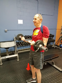Senior fitness superstar Al Pieper enjoys strength training at Better Living Fitness Center in Ann Arbor