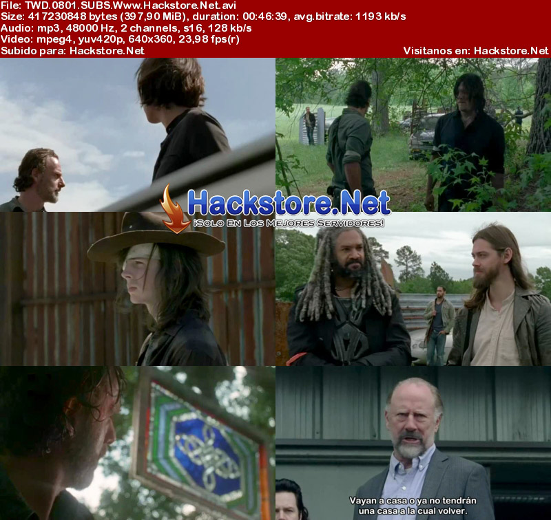 Capturas de The Walking Dead Octava Temporada Subtitulado