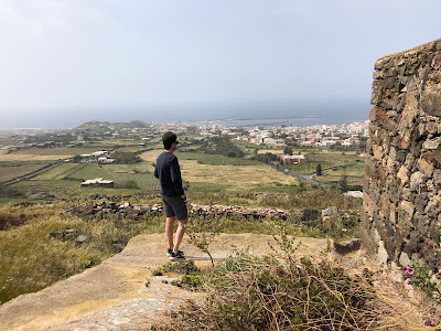 View from the Arcopolis of Pantelleria looking west back toward Pantelleria town.