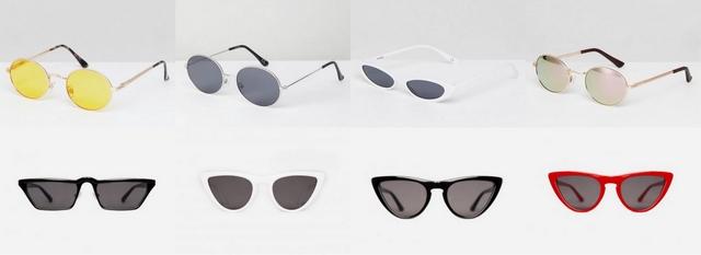 Zomer trend 2018 kleine zonnebrillen tiny sunglasses blogger style zonnebril inspiratie