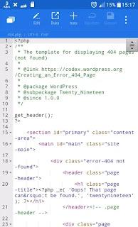 Edit file wordpress di file manager