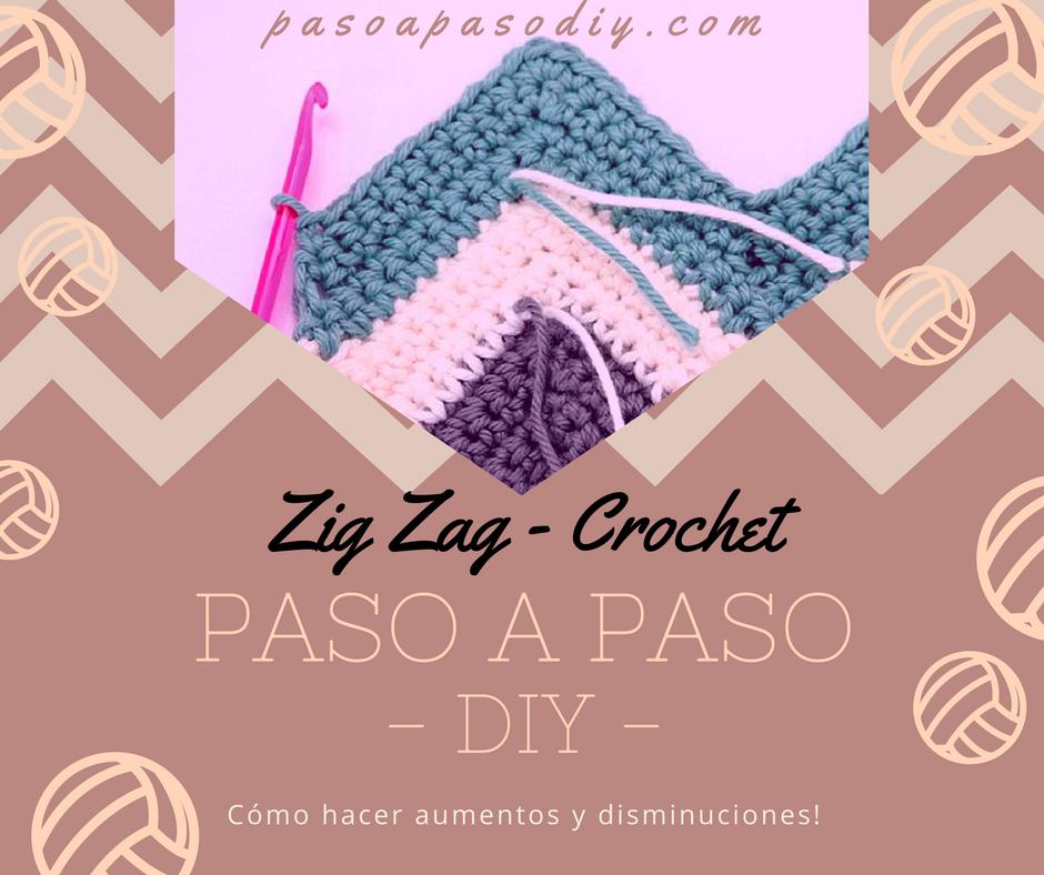 Aumentos y disminuciones en Zig Zag - Crochet | Paso a Paso