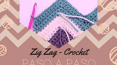 Aumentos y disminuciones en Zig Zag - Crochet