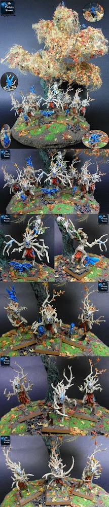 Wood Elves Dryads in a Fairy Forest CMON