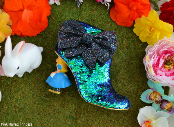 irregular choice who in the world am i? green sequins