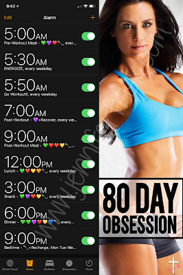 80 day obsession meal times